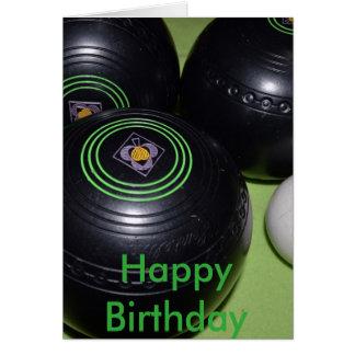 Black Lawn Bowls, Birthday Card