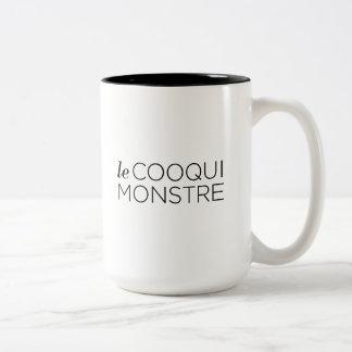 Black le Cooqui Monstre Two-Tone Coffee Mug