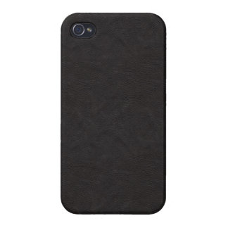 Black Leather 2 Covers For iPhone 4