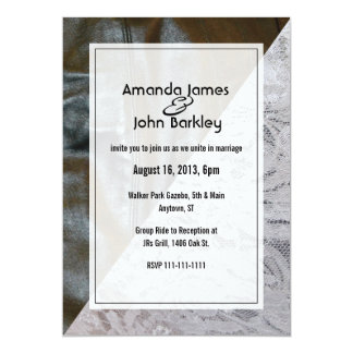 Black Leather and Lace Wedding Invitation
