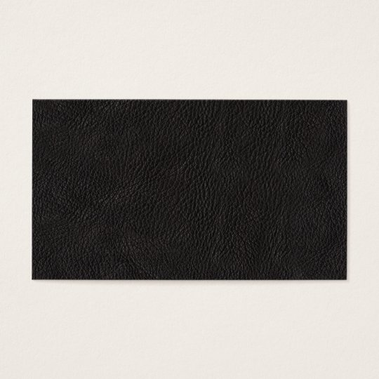 Black Leather Background Pattern Business Card