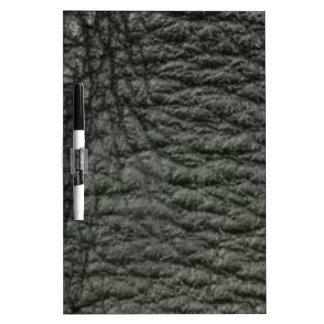 Black Leather Effect Dry Erase Board