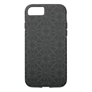 Black Leather Geometric Pattern iPhone 8/7 Case