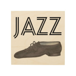 Black Leather Jazz Dance Shoe Teacher Choreography Wood Print
