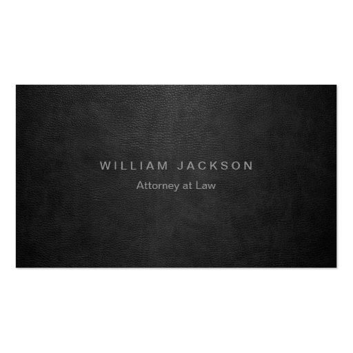 Black Leather Look Business Card Template