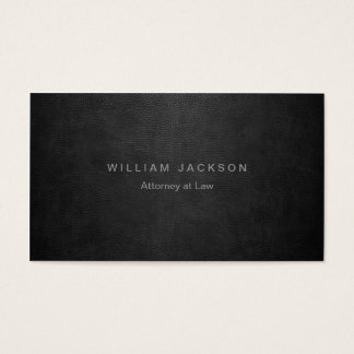 Black Leather Look Business Card