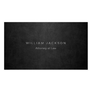 Black Leather Look Pack Of Standard Business Cards