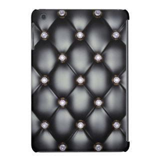 Black Leather Look White Diamonds iPad Mini Covers