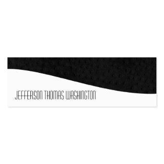 Black Leather Professional Slim Business Cards