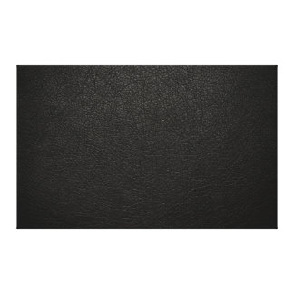 Black Leather Texture Background Canvas Prints
