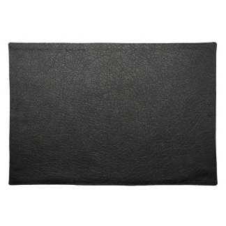 Black Leather Texture Background Place Mat
