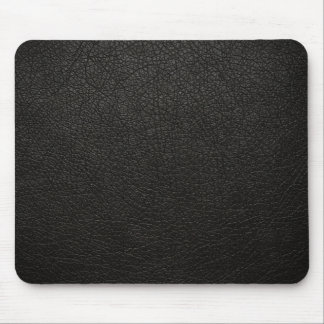 Black Leather Texture Background Mouse Mat