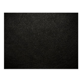Black Leather Texture Background Postcard