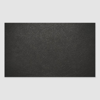 Black Leather Texture Background Rectangular Sticker
