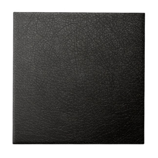 Black Leather Texture Background Small Square Tile