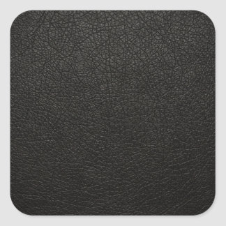 Black Leather Texture Background Square Sticker