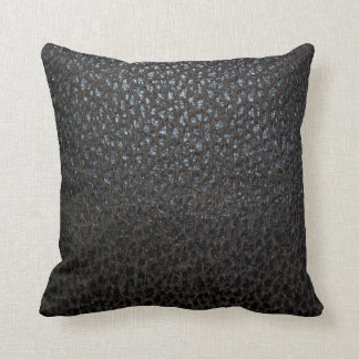 Black Leather Texture Cushion
