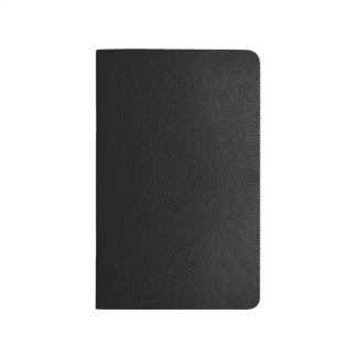 Black Leather Texture Notebook Small Journal