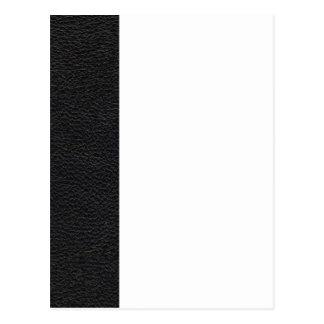 Black Leather Texture Postcard