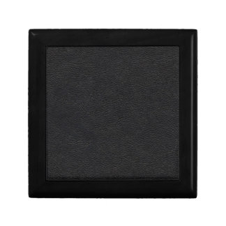 Black Leather Texture Small Square Gift Box