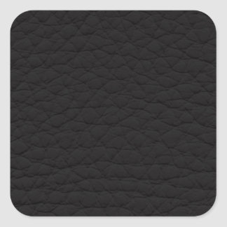 Black Leather Texture Square Sticker
