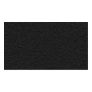 Black Leather Textured Business Card Template