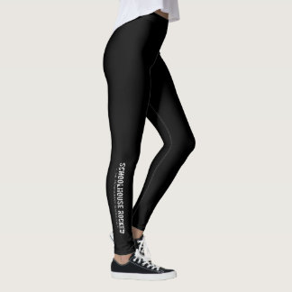 Black Leggings with Logo on Lower Leg
