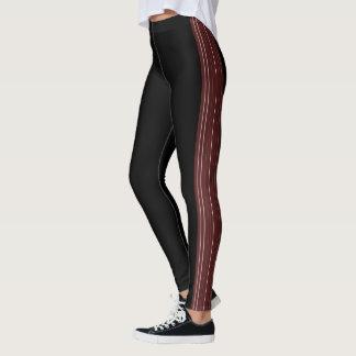 """""""Black leggings with maroon lines"""""""