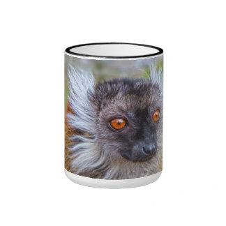 Black lemur mug