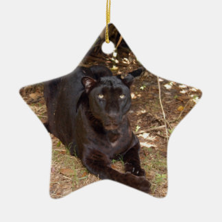 Black Leopard Christmas Ornament