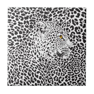 Black Leopard In Spots Tile