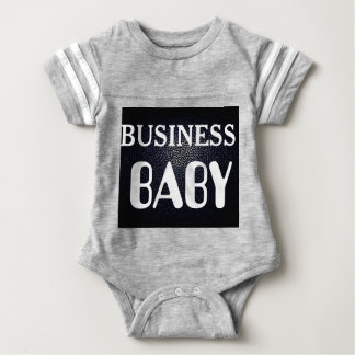 black lether imitation BUSINESS BABY Baby Bodysuit