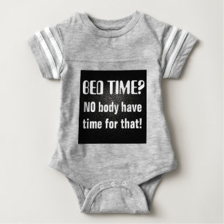 black lether imitation  no body have time for that baby bodysuit