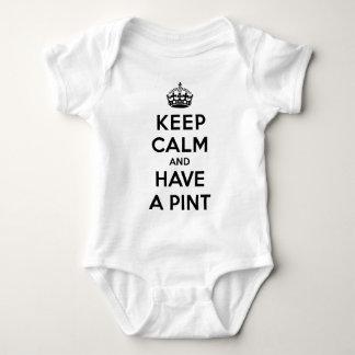black lettering baby bodysuit