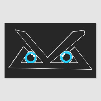 Black Level Logo Rectangular Sticker