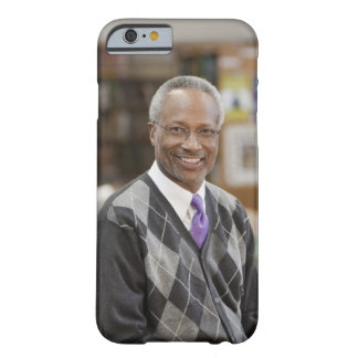 Black librarian in school library barely there iPhone 6 case