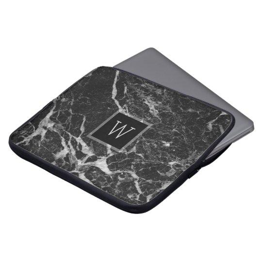 Black & Light Grey Marble Stone Texture Laptop