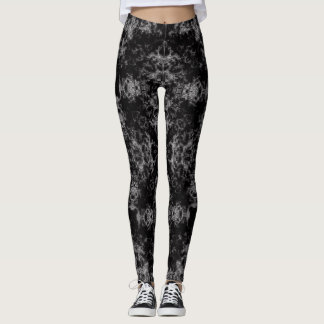 Black Lightning Rebel Satin Leggings