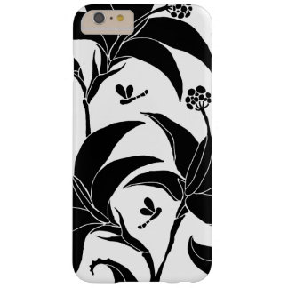 black lilies on a white background barely there iPhone 6 plus case