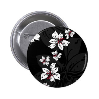 Black Lilly Pattern Button