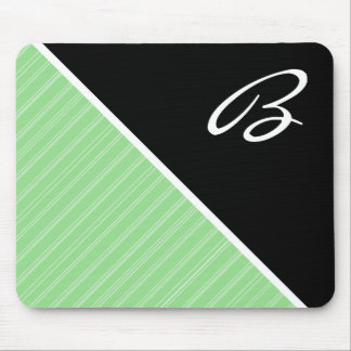 Black & Lime Green Mouse Pad