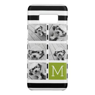 Black Lime Striped Photo Collage Custom Monogram Case-Mate Samsung Galaxy S8 Case