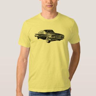 Black line art rendering of 1960 Chevrolet Impala Tshirts