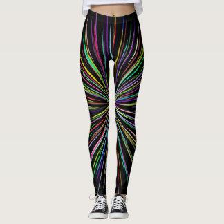 Black line explosion leggings
