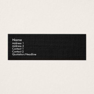 Black Linen Textured Skinny Profile Business Card
