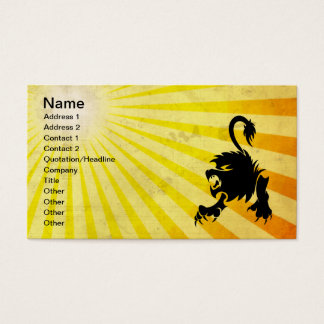 Black Lion; Leo Business Card