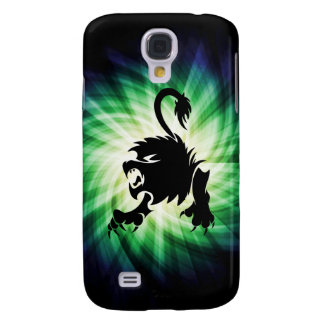 Black Lion; Leo; cool Galaxy S4 Case