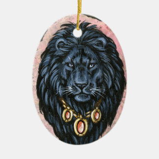Black Lion Portrait Ornament