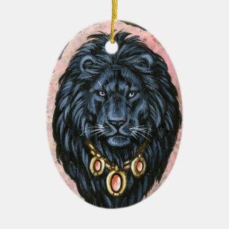 Black Lion Portrait Ornament