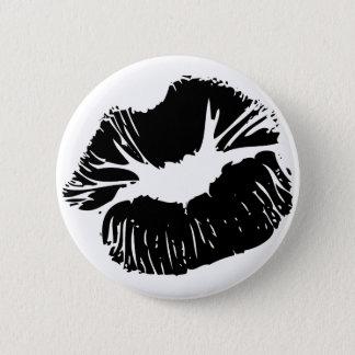 Black Lips 6 Cm Round Badge